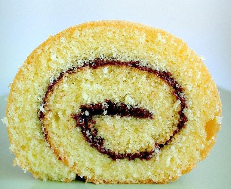 Ricetta Pan Di Spagna Rotolo.Rotolo Di Pan Di Spagna Con Nutella